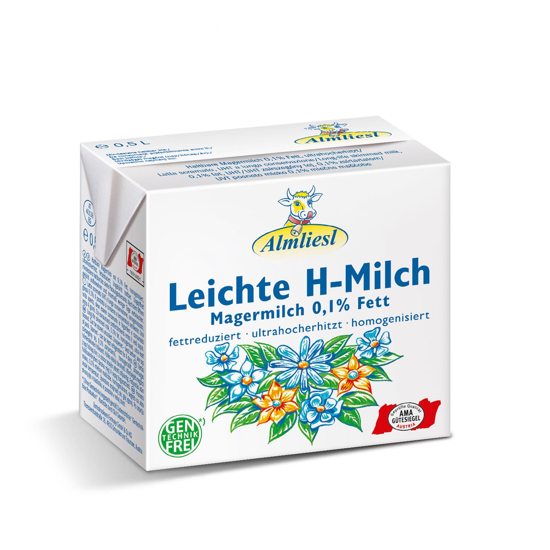Leichte H-Milch 0,1 %